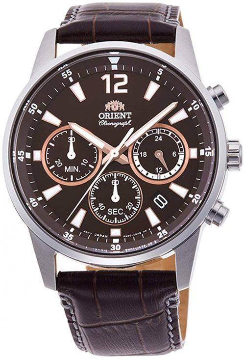 Orient 99999 Herrklocka RA-KV0006Y10B Brun/Läder Ø42 mm