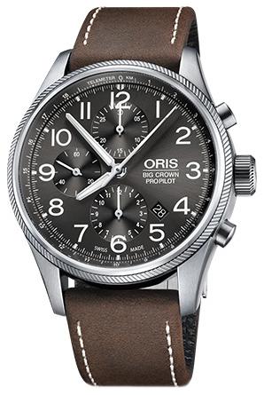 Oris Aviation Herrklocka 01 774 7699 4063-07 5 22 05FC Grå/Läder