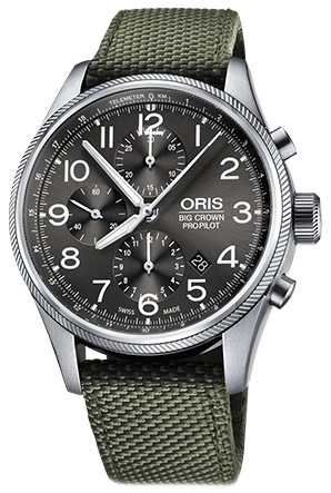 Oris Aviation Herrklocka 01 774 7699 4063-07 5 22 14FC Grå/Läder
