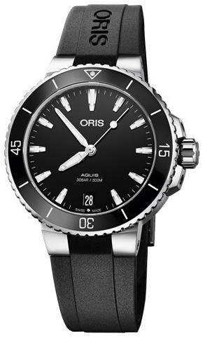 Oris Diving Damklocka 01 733 7731 4154-07 4 18 64FC Svart/Gummi