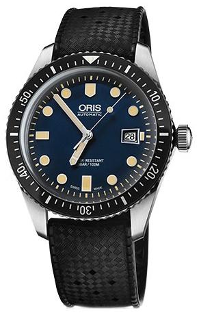 Oris Diving Herrklocka 01 733 7720 4055-07 4 21 18 Blå/Gummi Ø42 mm