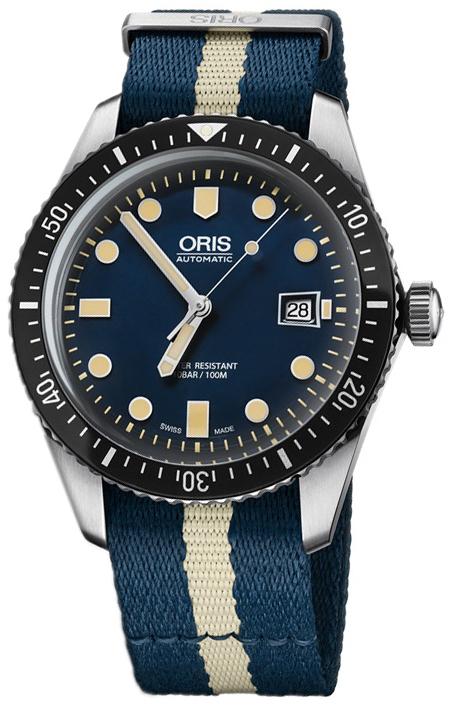 Oris Diving Herrklocka 01 733 7720 4055-07 5 21 29FC Blå/Stål Ø42
