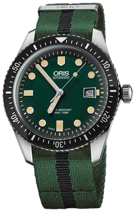 Oris Diving Herrklocka 01 733 7720 4057-07 5 21 25FC Grön/Stål Ø42