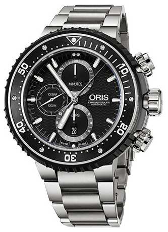Oris Diving Herrklocka 01 774 7727 7154-Set Svart/Titan Ø51 mm