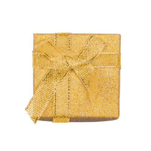 Presentask guldglitter - 5x5 cm