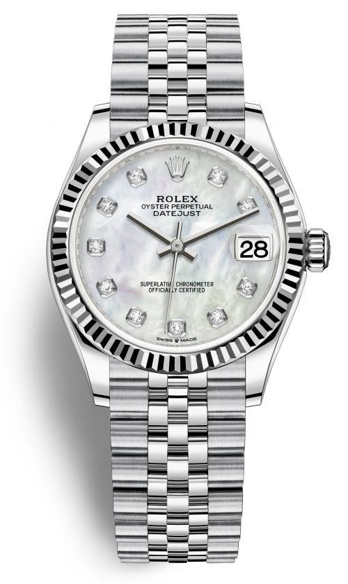Rolex 99999 Damklocka 278274-0006 Vit/Stål Ø31 mm
