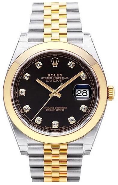Rolex Datejust 41 Herrklocka 126303-0006 Svart/18 karat gult guld
