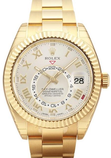 Rolex Sky-Dweller Herrklocka 326938-0001 Silverfärgad/18 karat vitt