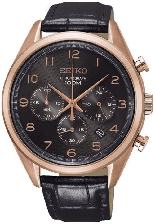 Seiko 99999 Herrklocka SSB296P1 Brun/Läder Ø42.5 mm