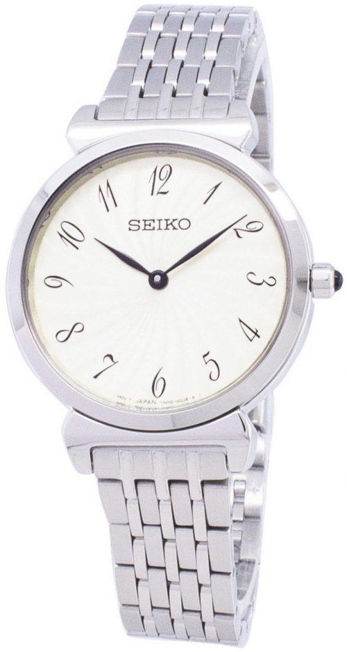 Seiko Classic Damklocka SFQ801P1 Vit/Stål Ø30 mm