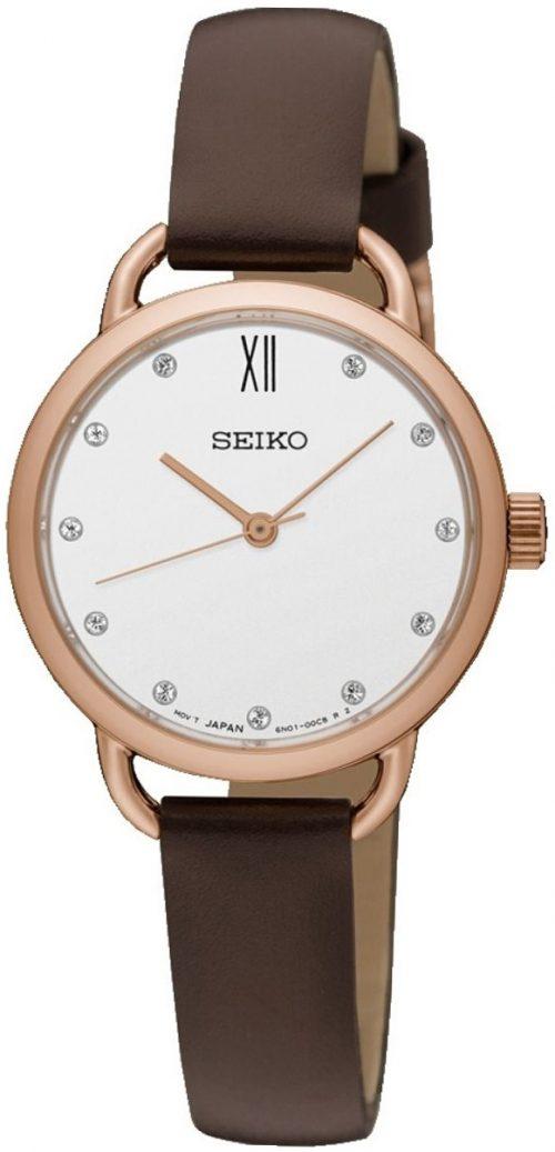 Seiko Classic Damklocka SUR698P2 Vit/Läder Ø27 mm