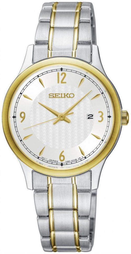 Seiko Classic Damklocka SXDG94P1 Silverfärgad/Gulguldtonat stål