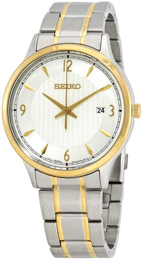 Seiko Classic Herrklocka SGEH82P1 Silverfärgad/Gulguldtonat stål