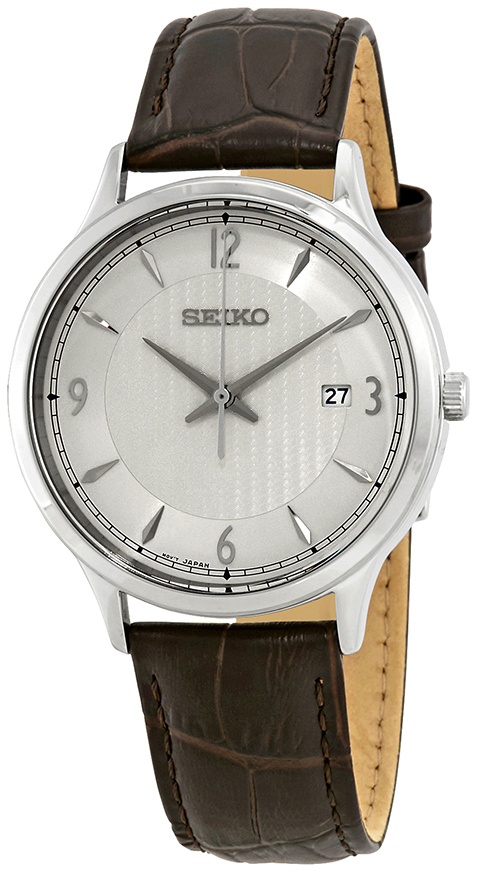 Seiko Classic Herrklocka SGEH83P1 Silverfärgad/Läder Ø40 mm