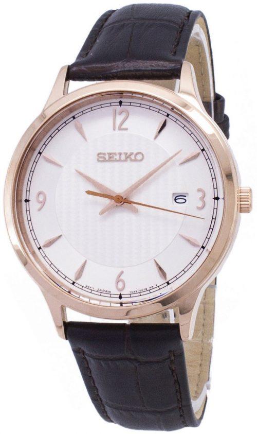 Seiko Classic Herrklocka SGEH88P1 Vit/Läder Ø40 mm