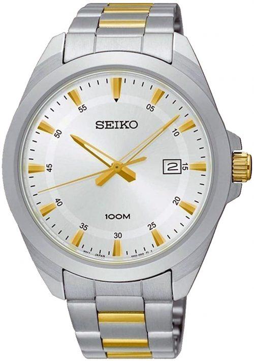 Seiko Classic Herrklocka SUR211P1 Silverfärgad/Gulguldtonat stål