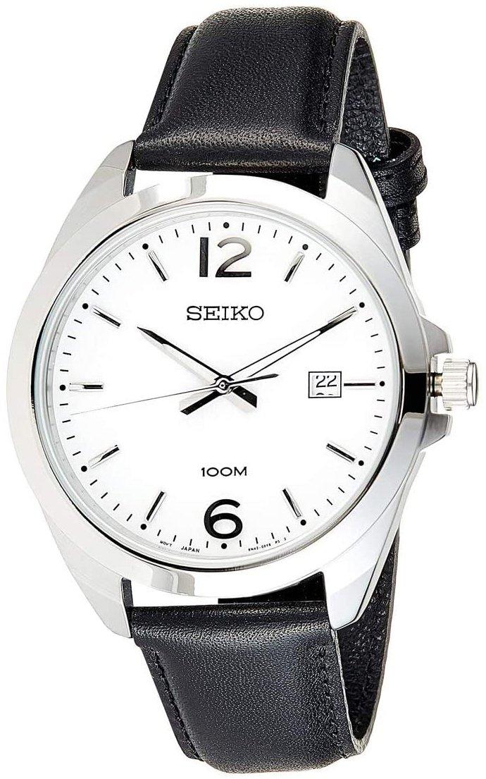 Seiko Classic Herrklocka SUR213P1 Vit/Läder Ø42 mm
