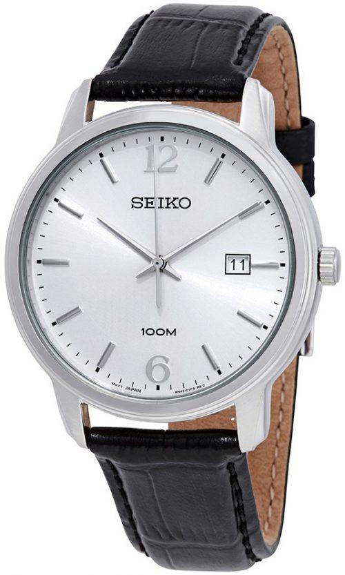 Seiko Classic Herrklocka SUR265P1 Silverfärgad/Läder Ø41 mm