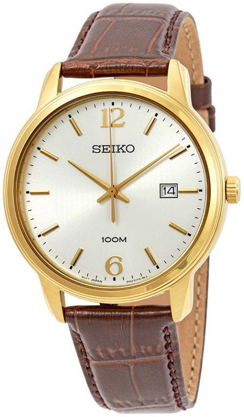 Seiko Classic Herrklocka SUR266P1 Silverfärgad/Läder Ø41 mm