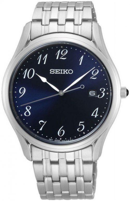 Seiko Classic Herrklocka SUR301P1 Blå/Stål Ø38 mm