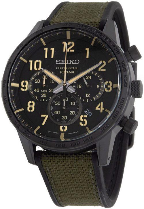 Seiko Sport Herrklocka SSB369P1 Svart/Gummi Ø45.2 mm