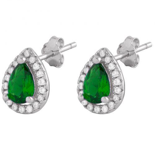 Sterling Silver 925 Örhängen Grön
