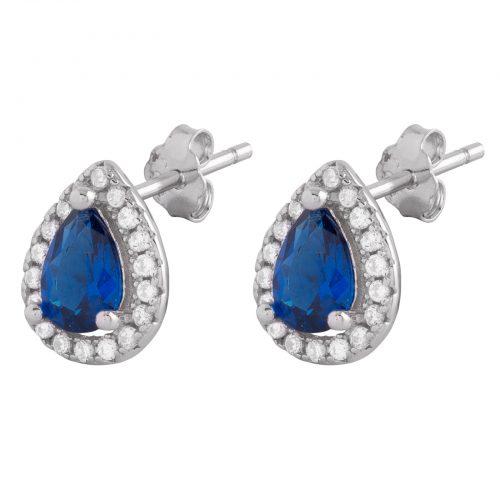 Sterling Silver 925 Örhängen blå