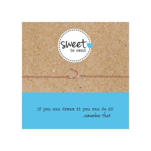 Sweet to send stålarmband Wishbone