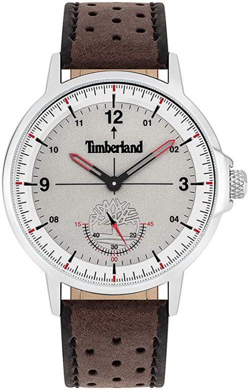 Timberland 99999 Herrklocka TBL15943JYS13 Grå/Läder Ø44 mm
