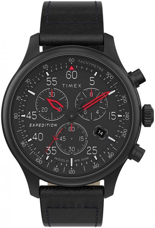 Timex 99999 Herrklocka TW2T73000 Svart/Läder Ø43 mm