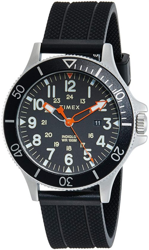 Timex Allied Herrklocka TW2R60600 Svart/Gummi Ø43 mm