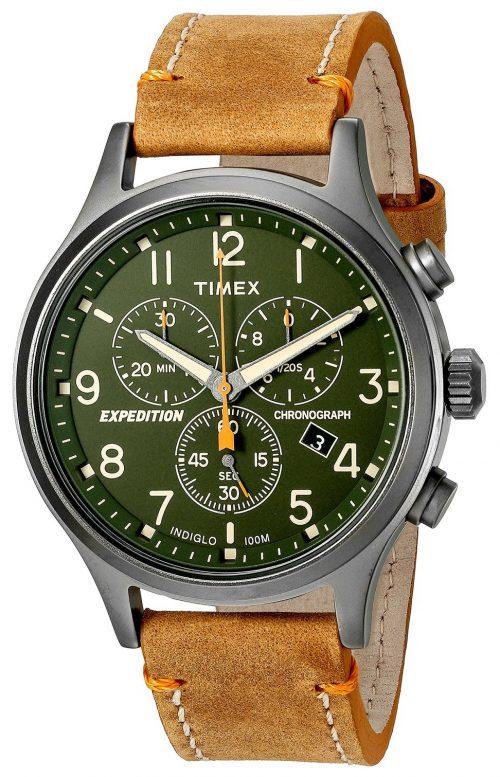 Timex Expedition Herrklocka TW4B04400 Grön/Läder Ø42 mm