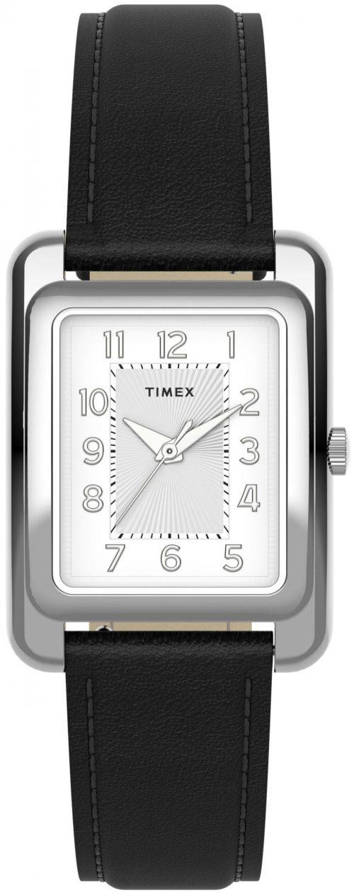 Timex Naiste Damklocka TW2U14500 Silverfärgad/Läder