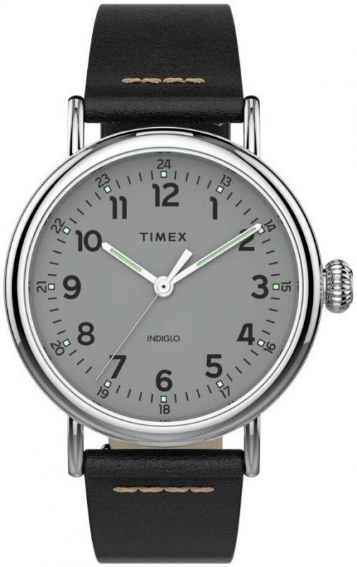 Timex Standard Herrklocka TW2T69200 Grå/Läder Ø40 mm