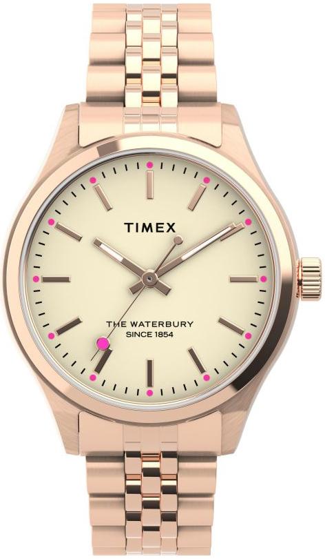 Timex The Waterbury Damklocka TW2U23300 Antikvit/Roséguldstonat