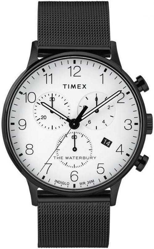 Timex The Waterbury Herrklocka TW2T36800 Vit/Stål Ø40 mm