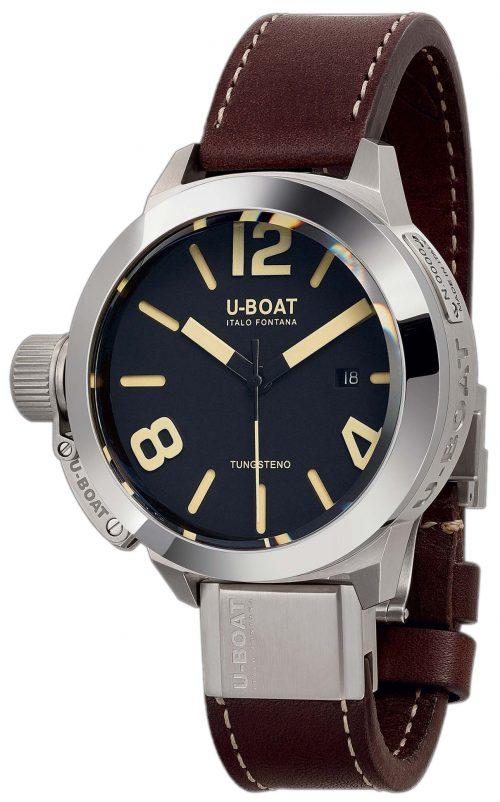 U-Boat Classico Herrklocka 8092 Svart/Läder Ø50 mm