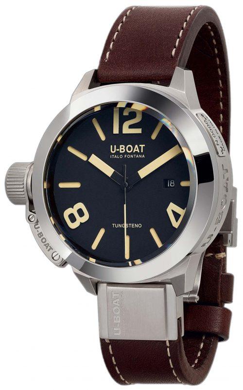 U-Boat Classico Herrklocka 8094 Svart/Läder Ø45 mm