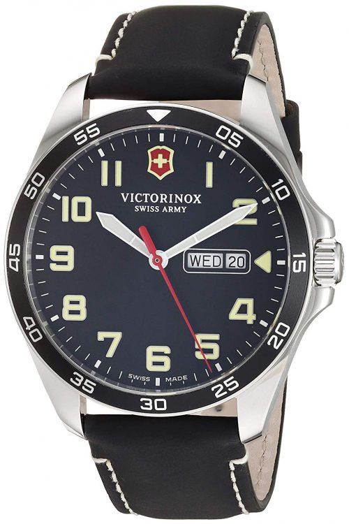Victorinox 99999 Herrklocka 241846 Svart/Läder Ø42 mm