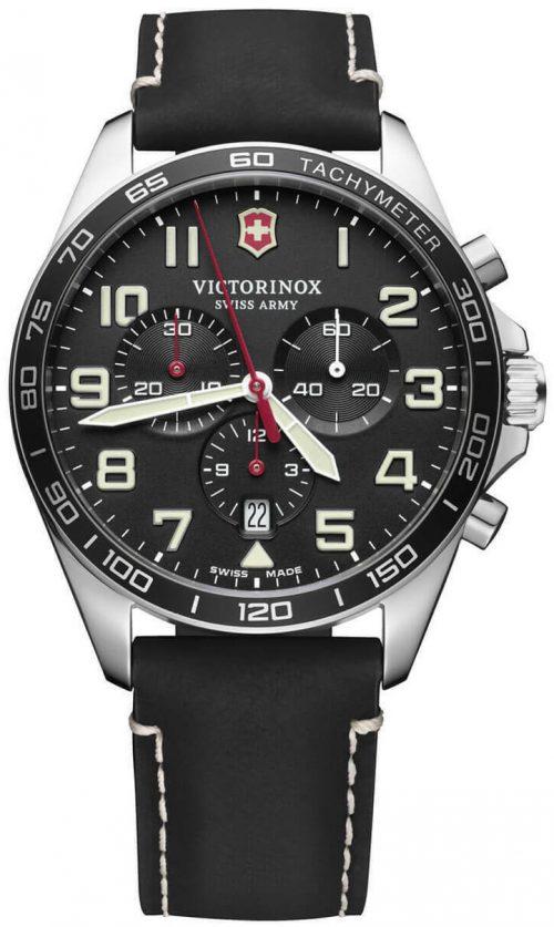 Victorinox 99999 Herrklocka 241852 Svart/Läder Ø42 mm